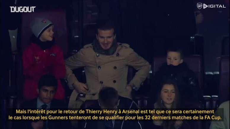 Thierry Henry évoque son retour incroyable contre Leeds. dugout