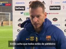 Neto destaca evolução do Barça após vitória sobre o Celta. DUGOUT