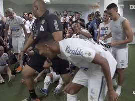 Santos booked a date with Palmeiras in the Copa Libertadores final. DUGOUT