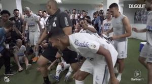 Santos booked a date with Palmeiras in the Copa Libertadores final. DUGOUT