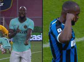 I due gol di Lukaku contro il Genoa. Dugout