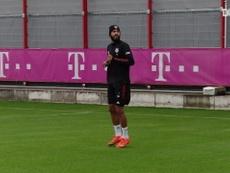 Le premier entrainement de Choupo-Moting et Costa avec le Bayern. dugout