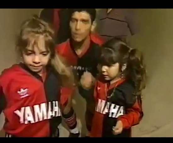 Newells rend hommage à Maradona. dugout