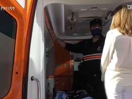 VÍDEO: el Leganés donó una ambulancia a la localidad. DUGOUT