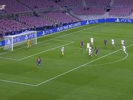 Ansu Fati's backheel assist vs Ferencvaros. DUGOUT