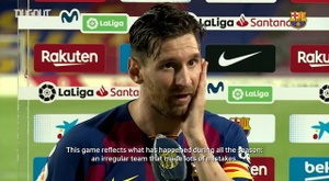 Messi was highly self critical. DUGOUT