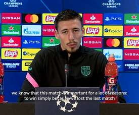 Lenglet adressed the press. DUGOUT