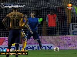 Tigres got a three goal cushion in the first leg of the 2015 Apertura final. DUGOUT