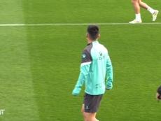 Wu Lei is preparing for Espanyol's match at Fuenlabrada. DUGOUT
