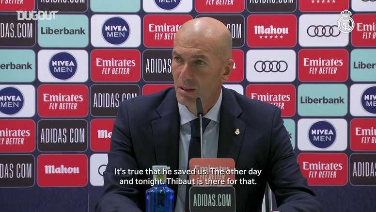 Zidane seemed happy. DUGOUT