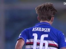 Askildsen got his first ever Sampdoria goal back in July. DUGOUT