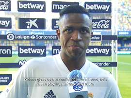 Vinicius spoke after the match. DUGOUT