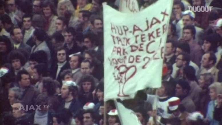 Ajax garante a Champions de 1972. DUGOUT