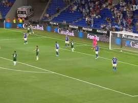 Wu Lei metió el primer gol en Europa de la última campaña para los 'pericos'. DUGOUT