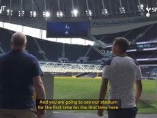 Reguilon sees the stadium for the first time. DUGOUT