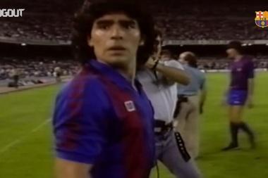 Il meglio di Maradona al Barcellona. Dugout