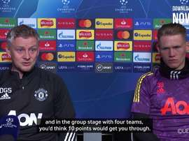 Solskjaer spoke ahead of the match. DUGOUT