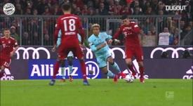 Le premier triplé de James Rodriguez avec le Bayern Munich. DUGOUT