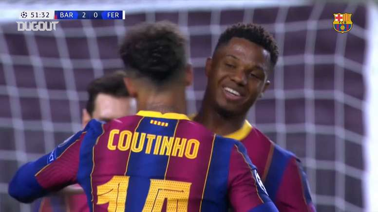 Philippe Coutinho scored in the Champions League for Barcelona. DUGOUT