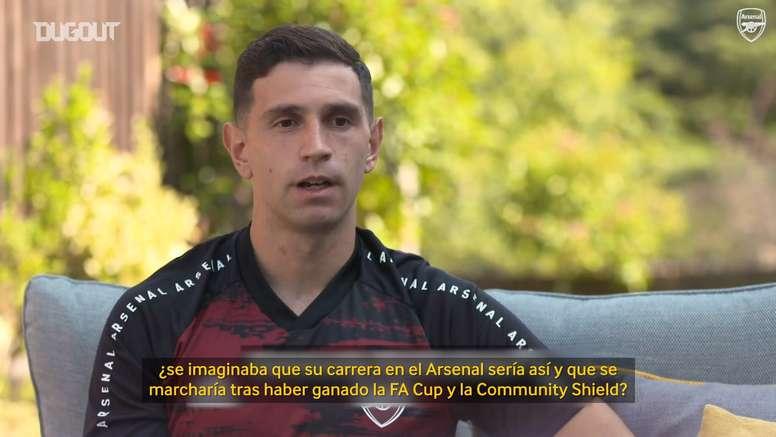 Emi Martínez repasó sus diez años en el Arsenal. Captura/DUGOUT