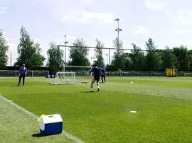 Il Tottenham torna ad allenarsi. Dugout