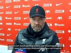 Klopp spoke after the match. DUGOUT