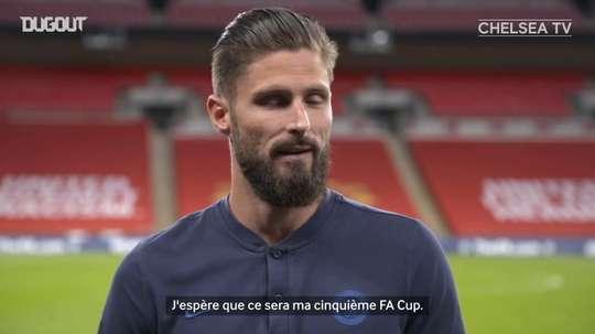 Giroud cherche à poursuivre son histoire d'amour en FA Cup. DUGOUT