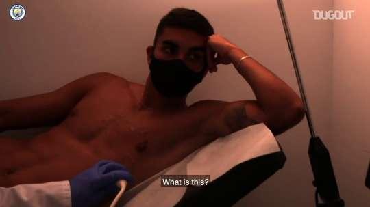 Quando Ferran Torres chegou ao Manchester City. DUGOUT