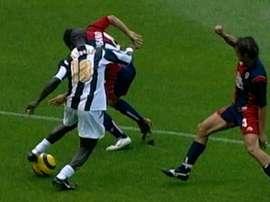 Appiah put Juve 3-0 up over Cagliari in 2005. DUGOUT