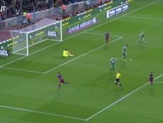 Luis Suarez's superb finish vs Eibar. DUGOUT