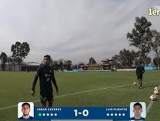 VíDEO: Luis Fuentes destrona a Cáceres en el 'Crossbar Challenge' del América. DUGOUT