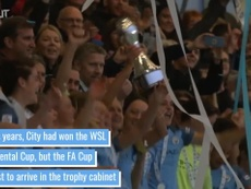Man City Women won the FA Cup. DUGOUT