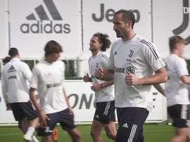 Juventus al lavoro. Dugout