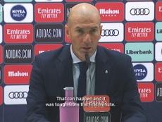 Zidane was unimpressed. DUGOUT
