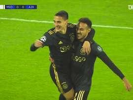 Les buts de l'Ajax en Ligue des Champions 2020-21 jusqu'à présent. dugout