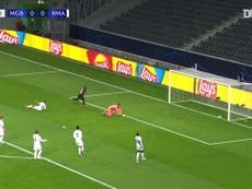 Le doublé de Marcus Thuram contre le Real Madrid. dugout