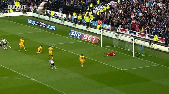 Derby were too strong for Brighton in the 2014 Championship play-off semi-final. DUGOUT