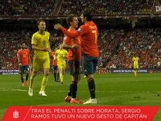 Ramos le cedió el penalti a Morata. DUGOUT