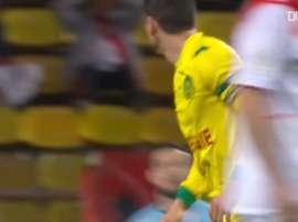 La tête magnifique de Bedoya contre Monaco. DUGOUT