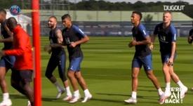 VIDÉO : séance d'entraînement spécifique pour les défenseurs du PSG. Dugout