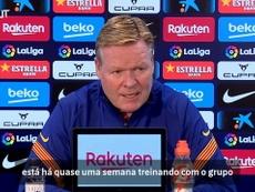 Koeman repercutiu o retorno de Coutinho após lesão muscular. EFE/Alberto Estévez/Arquivo