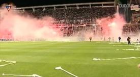 Liga de Quito beat Fluminense in the 2008 Copa Libertadores final. DUGOUT