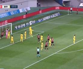 Han Chan-hee gave FC Seoul the three points with his goal. DUGOUT