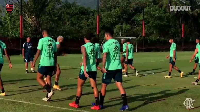 Flamengo inicia preparação para duelo contra o Goiás. DUGOUT