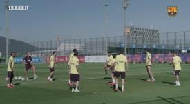 Barcelona treina para a volta da LaLiga. DUGOUT
