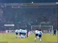 Colo-Colo campeão da Libertadores de 1991. DUGOUT
