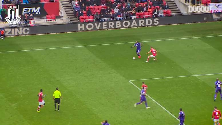 Stoke City have scored some quality goals v Bristol City despite losing on Sunday. DUGOUT