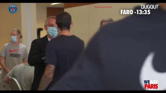 Il ritiro del PSG a Faro. Dugout