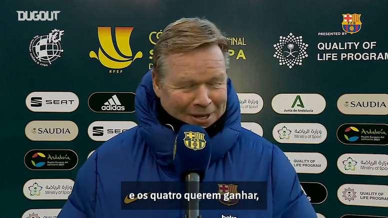 Koeman fala antes do duelo entre Barcelona e Real Sociedad. DUGOUT