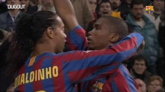 Samuel Eto'o's goals against Real Madrid. DUGOUT